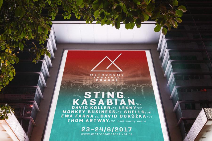 Metronome festival Prague 2017 - vizuál citylight
