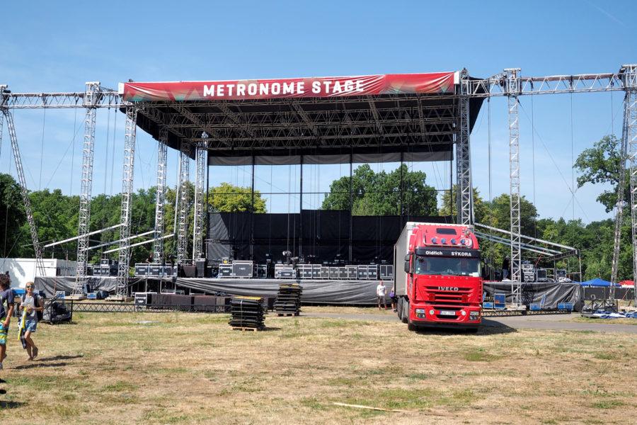Metronome Festival Prague 2017 - stavba Metronome stage